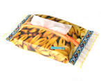 おしりふきポーチ-バナナ柄×オレンジ刺繍テープ