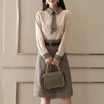 【set】2点セットフォーマルブラウス+着やせスカートセットアップ