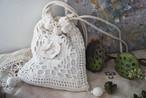 [vintage] white crochet bag