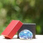 沖縄の思い出ペーパーウェイト(ラグーンブルー)箱あり 琉球ガラス工房 雫