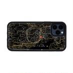 FLASH 東京回路線図 iPhone 12 / 12 Pro ケース 黒【東京回路線図A5クリアファイルをプレゼント】