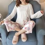 「ルームウェア」韓国語版長袖の女性のかわいい女性ツーピース14018767