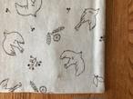 tendre / タオルとガーゼのふっくらハンカチ (ことり-ブルー)