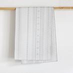 上質な綿麻素材の大人へこ帯「raita(ライタ)/ スノーホワイト×グレー」