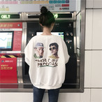 【tops】パーカーお洒落プリントブルオーバーカジュアルトップス