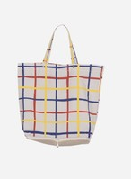 bobochoses Multicolour Check Packable Shopping Bag