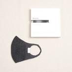 Knitted Mask 2pcs Set / KMK / Tussar Silk Filament / #Black Pearl