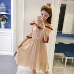 plate long chiffon dress 1743