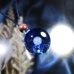 ブラックライトで光るガラスの惑星宇宙ペンダント/【訳あり、試作品】20210126-1