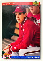 MLBカード 92UPPERDECK Andy Ashby #019 PHILLIES Rookie Card
