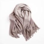 THE INOUE BROTHERS/Double Faced Brushed Stole/Beige