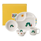 ニッコー 子供食器 はらぺこあおむし もぐもぐセット(ランチ皿、ライスボール、マグ、小鉢) 8010-KS04