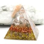 ピラミッド型Ⅱ オルゴナイト ルチルクォーツ&パイライト