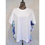 【 RehersalL 】side frill Tshirt(White2) /【リハーズオール】サイドフリルTシャツ(ホワイト2)