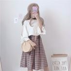 【set】[単品注文]ファッション切り替えトップス+スカートセットアップ19292785
