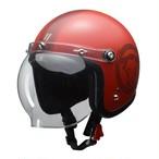 LEAD ジェットヘルメット MOUSSE 70th 限定モデル スモーキーレッド