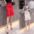 【bottoms】レースフィッシュテールタイト女性らしい美しいシルエットスカート