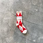 THESOCKS HISHI WHT/RED