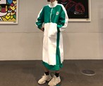 起毛フリースロングワンピース ロングワンピース フリース ワンピース 韓国ファッション