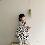 キッズ【MY BEBE】ボンディングハートレオパードワンピース 2色 S~XL