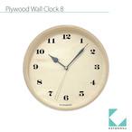 KATOMOKU plywood wall clock 8 km-74NRC 電波時計