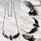 ben livingston silver eagle necklace set with turquoise&jet