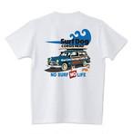 No.2020-welshcorgi-0038  : 5.6oz  サーフシリーズ SURF DOG NO SURF NO LIFE Blue Line Garage Cafe18ネーム入り