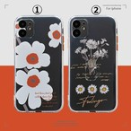 【オーダー商品】Cute white flower iphone case