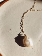 Baroque Pearl Design chain Necklace