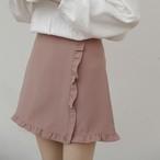 【bottoms】スカート合わせやすい無地ハイウエストAラインファッション