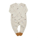 organic zoo-cotton flower SUIT