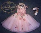 kids dress セレモニードレス フォーマルドレス 発表会 演奏会 子供 こども 子供用 花柄 かわいい 刺繍 オーガンジー