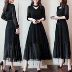 【dress】流行り美しいラインプリントワンピース25417874
