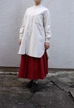 YAECA/ヤエカ ボタンシャツ スタンドカラー ロング レディース