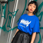 【Cotton100%】MARRION APPAREL LOGO Tee  (ロイヤルブルー×白)
