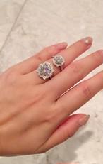 モアサナイトダイヤモンド  2カラット ベル プラチナ  リング