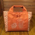 帯と刺繍のトートバッグ『スズラン水仙』