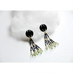 tiravisù【 retro black button _ earring 】vintage handmade イヤリング japan