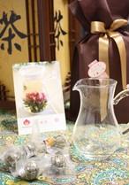 母の日ギフト2<茶器付きセット>新茶工芸茶5粒セット(5種類*1粒)+ 専用茶器1点 宅配便送料無料