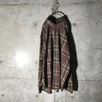 [used] brown burberry checked shirt