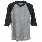 Dead Stock! 80's THE KNITS RaglanT-shirt made in USA size M Gray/Black