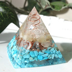 ピラミッド型Ⅱ オルゴナイト アラゴナイト&ターコイズ