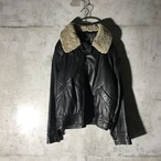 [used] boa caller leather jacket