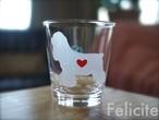 アメリカンコッカースパニエル彫刻グラス(ハート&クローバー)