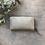 イタリアからお届け  Fringe silver / Leather Long Wallet