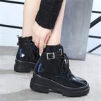 【shoes】カジュアルソリッドカラーPU ブーツ14483994