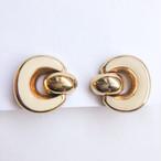 gold & cream design earring[e-1313] ヴィンテージイヤリング