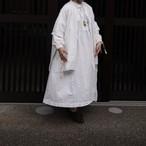 Yarmo/ヤーモ ギャザード ドレス WHITE #YAR-20SS OP20