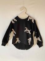 【予約8/21(金)13:00まで】folk made afghan hound long-shirt S.M.Lサイズ (black print) F20AW-005※メール便送料無料
