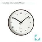 KATOMOKU plywood clock km-35MRC 電波時計